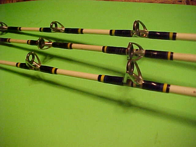 SET OF 3 SHIMANO TRITON SALT WATER SERIES CONVENTIONAL FISHING RODS, SWEET